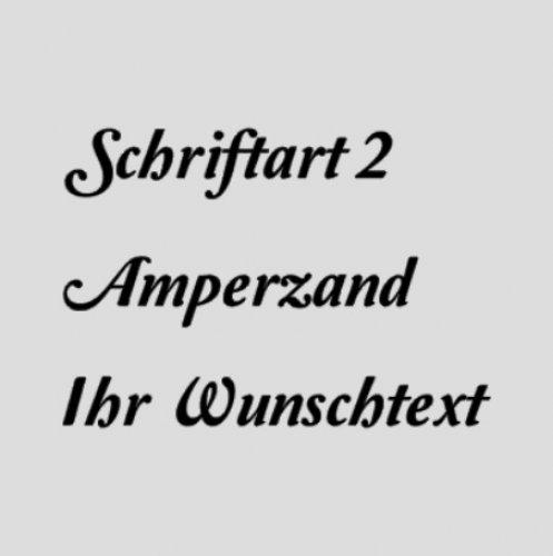 WUNSCHTEXT Schriftart 2 - Amperzand